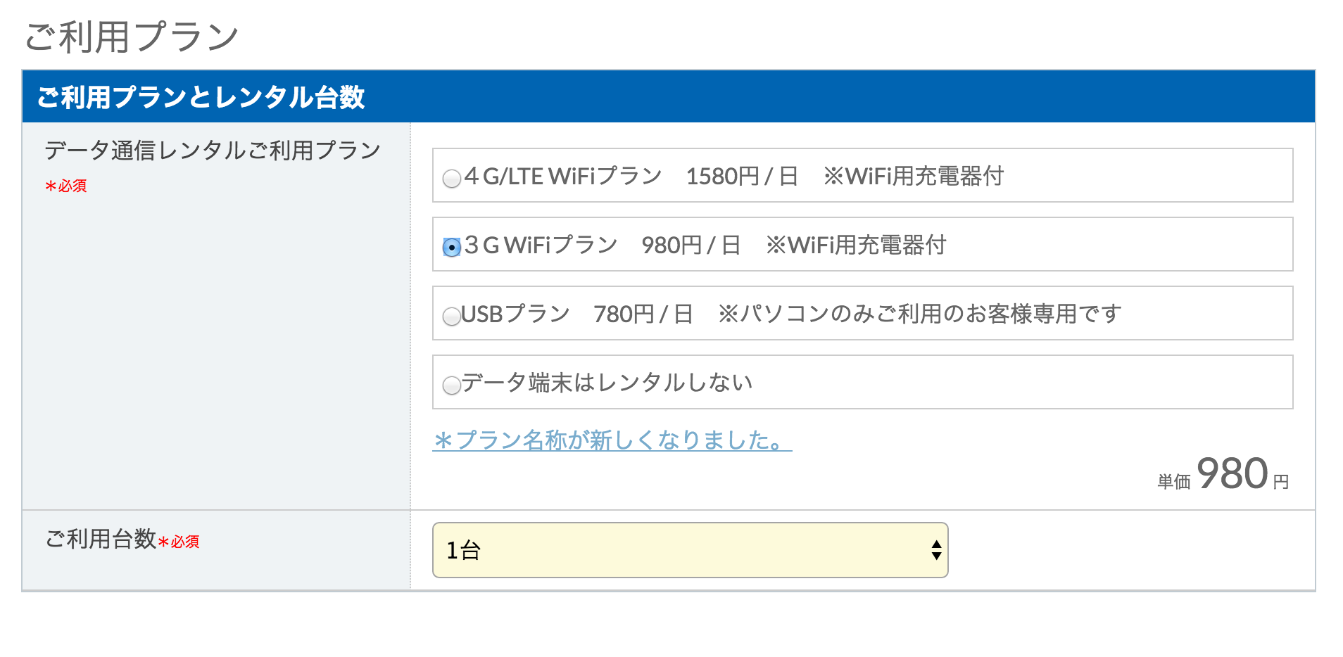 Wi-Fiプラン