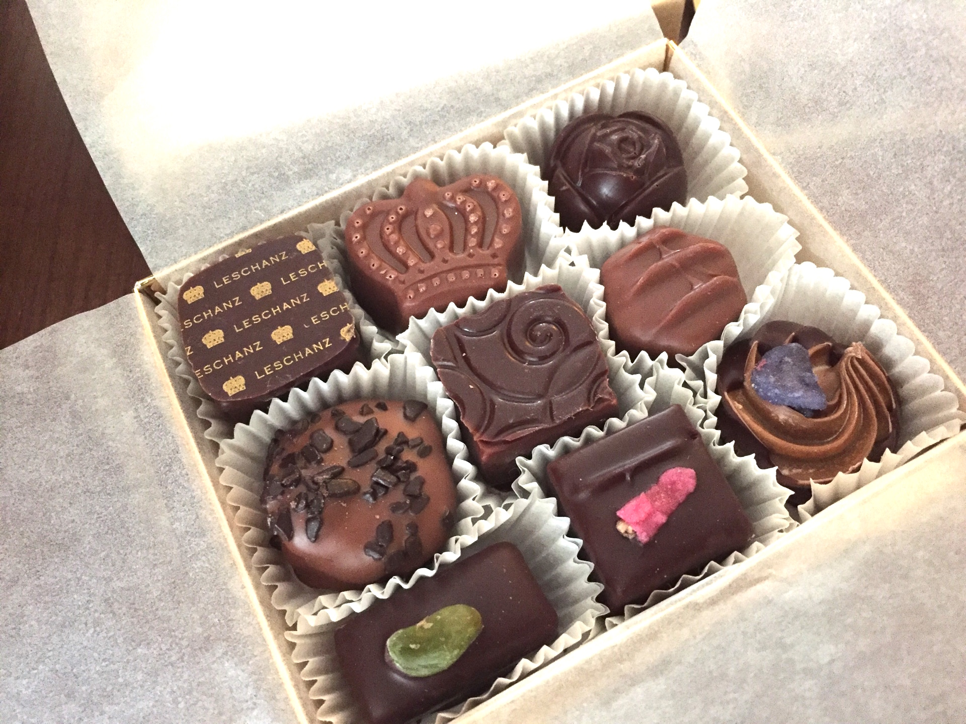 LESCHANZのチョコレートのお土産