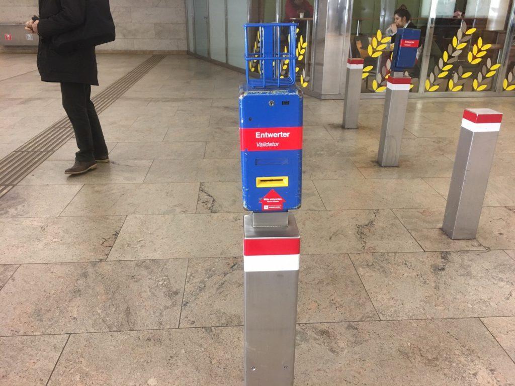 ウィーンの乗車券打刻