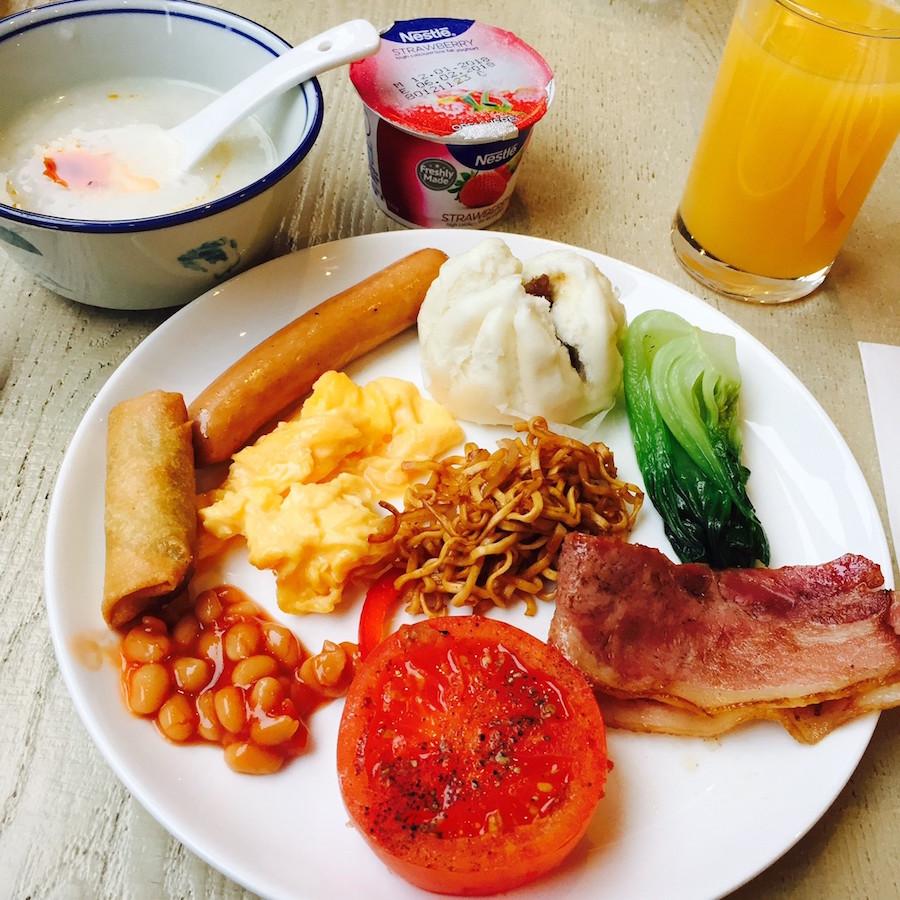 ホンハムのホテルサブ、朝食