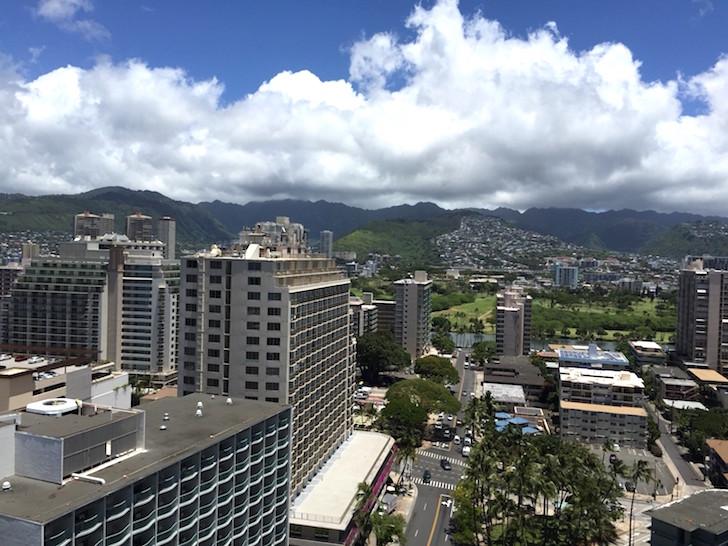 ハワイハイアットリージェンシーベランダからの眺望